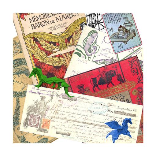 Papel carton tijera exposición biblioteca María Moliner