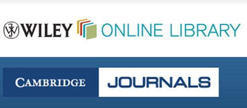 Nuevas colecciones de revistas electrónicas de Wiley y Cambridge University Press en la Biblioteca