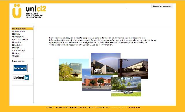 El proyecto UniCI2 abre su página web