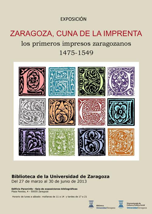 Zaragoza, cuna de la imprenta
