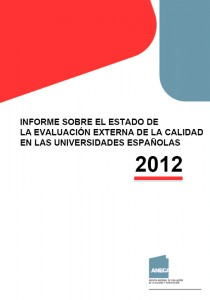 Informe ANECA sobre universidades 2012