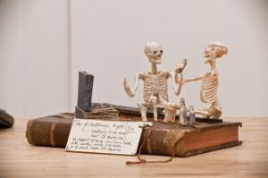 Objetos con libros: Esqueletos