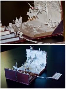 objetos con libros: batalla