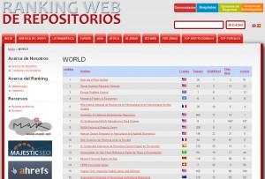 ranking web de repositorios (julio 2014)