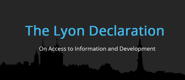 Declaración de Lyon sobre el acceso a la información y el desarrollo