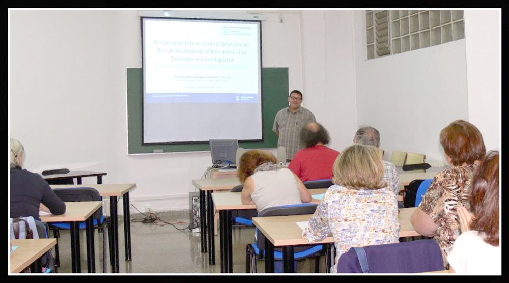 """curso """"Propiedad Intelectual y Gestión de Recursos Bibliográficos para uso docente e investigador"""""""