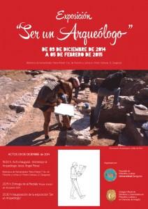 """Exposición """"Ser arqueólogo"""". Biblioteca María Moliner (9/12/2014-5/2/2015)"""