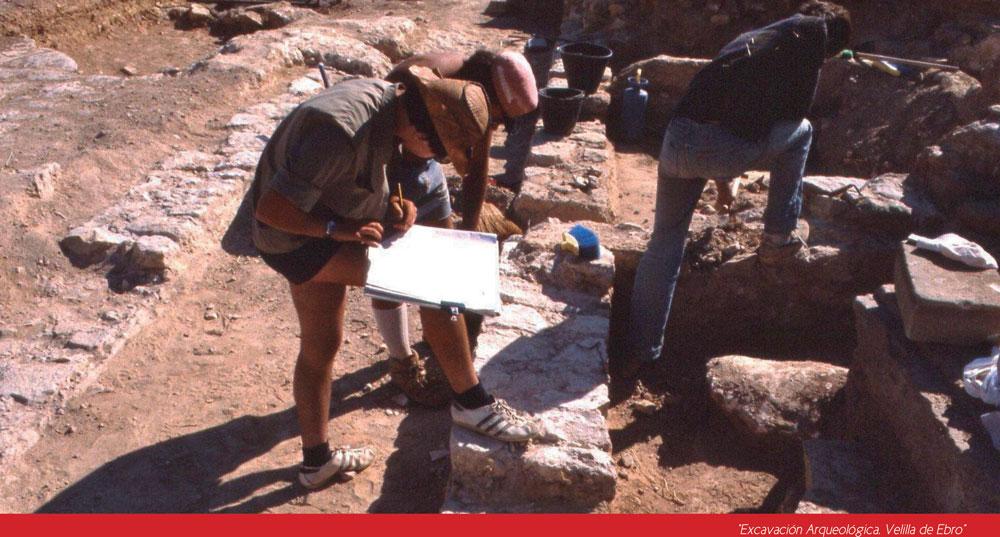Excavación arqueológica en Velilla de Ebro
