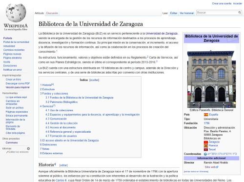 La BUZ en la Wikipedia
