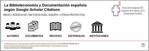 La Biblioteconomía y Documentación española según Google Scholar Citations