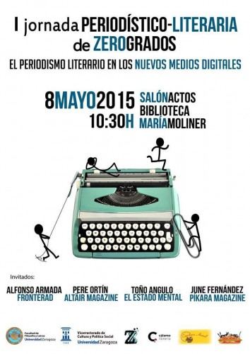 Cartel Jornada Periodístico literaria de Zero Grados