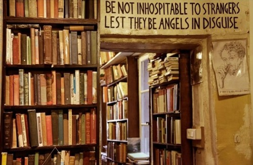 Librería Shakespeare & Company. Cita de W.B. Yeats