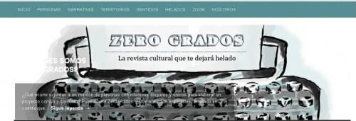 Cabecera de la revista Zero Grados