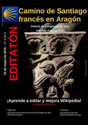 Editatón Camino de Santiago francés en Aragón