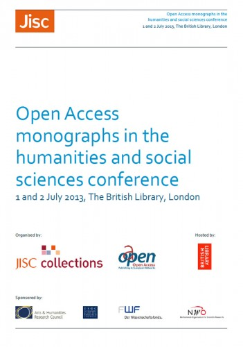 "informe de la ""Open Access Monographs in the Humanities and Social Sciences conference"""
