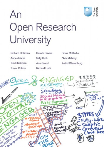 Richard Holliman, Anne Adams, Anne [et al.] eds. An Open Research University (Milton Keynes: The Open University, 2015)