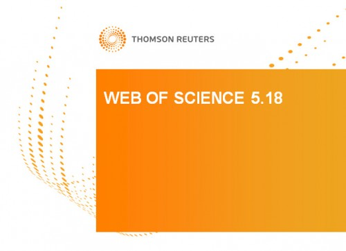 Web of Science 5.18