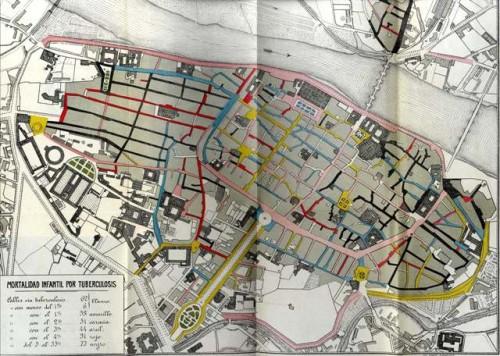 Mapa Tuberculosis Zaragoza 1900