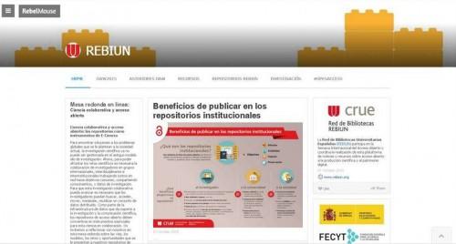 Página web de REBIUN