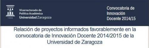 BUZ y Proyectos de innovación docente 2014-2015