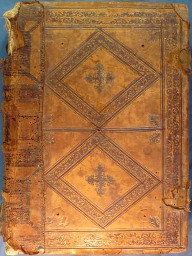 Encuadernación renacentista del manuscrito Ms-86