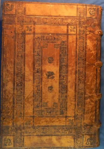 Encuadernación renacentista del impreso del siglo XVI G-58-10