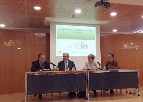 IMPACTO SOCIOECONÓMICO DE LAS BIBLIOTECAS EN LA SOCIEDAD Presentación del Informe del Consejo de Cooperación Bibliotecaria (realizado en colaboración con FESABID) en la Biblioteca de Aragón el día 24 de noviembre de 2015