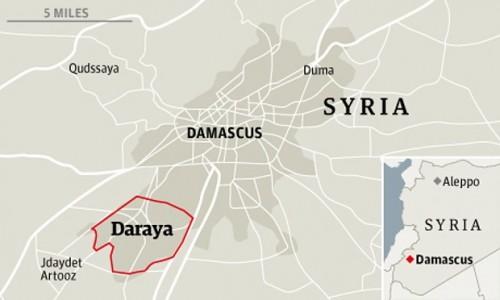 Mapa de Daraya (Siria)