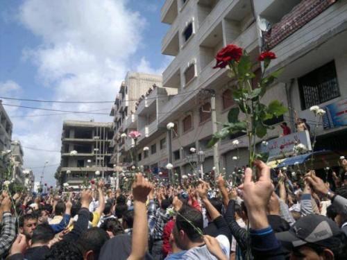 Protesta de las flores