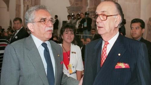 Gabriel García Márquez y Camilo José Cela en el I Congreso de la Lengua Española