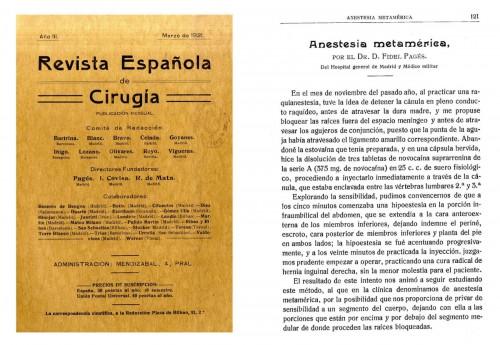 Fidel Pagés y la anestesia epidural