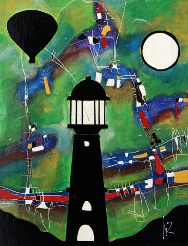Obra sobre Julio Verne, del pintor zaragozano José Ortiz Domingo