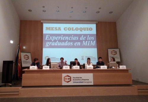 primera jornada de experiencias de los graduados en Marketing e Investigación de Mercados (MIM) de la Universidad de Zaragoza