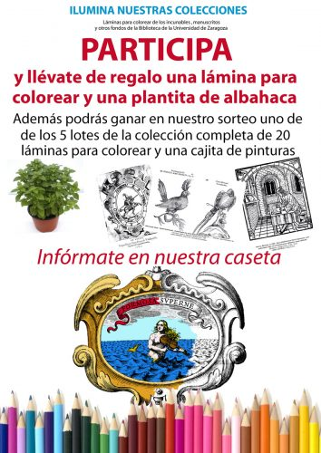 Ilumina nuestras colecciones. Participación del público de la Feria en la Caseta de la Feria del Libro de Huesca 2016