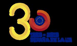 logotipo 30 Aniversario España en la UE