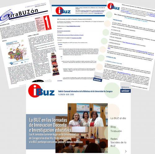 Renovamos nuestro iBuz, el Boletín semanal informativo de la Biblioteca de la Universidad de Zaragoza