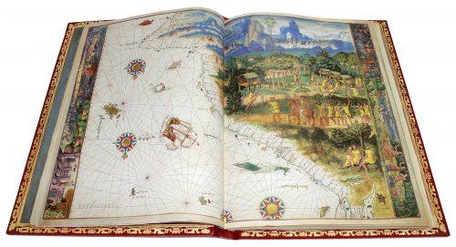 Atlas Vallard - exposición Tesoros bibliográficos (s. X – XVI): El arte y el genio al servicio del poder