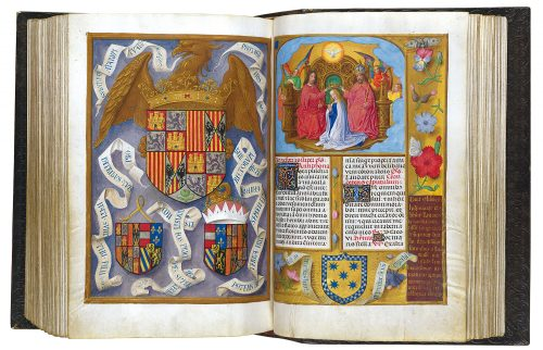 Breviario de Isabel la catolica - exposición Tesoros bibliográficos (s. X – XVI): El arte y el genio al servicio del poder