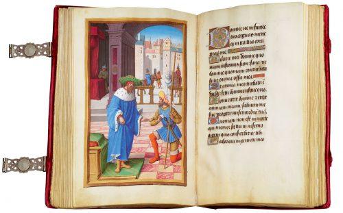 Libro de Horas de Enrique VIII - exposición Tesoros bibliográficos (s. X – XVI): El arte y el genio al servicio del poder