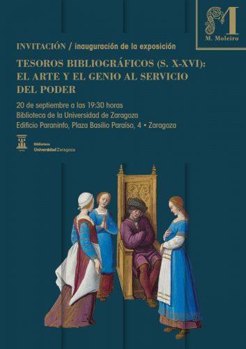 Cartel de la Exposición Tesoros bibliográficos (s. X – XVI): El arte y el genio al servicio del poder