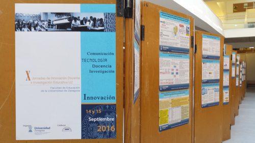 La BUZ en las X Jornadas de Innovación Docente e Investigación de la Universidad de Zaragoza. Exposición de las comunicaciones presentadas.
