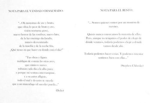 """poesias para los """"vándalos"""""""