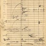 Nota autógrafa de Puccini en La Boheme