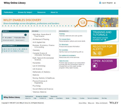 colección Wiley Online Library