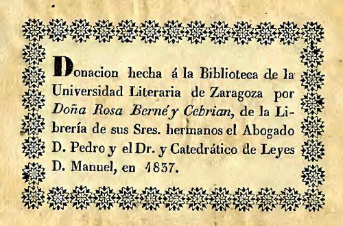 Donación de Rosa Berné a la Biblioteca de la Universidad de Zaragoza