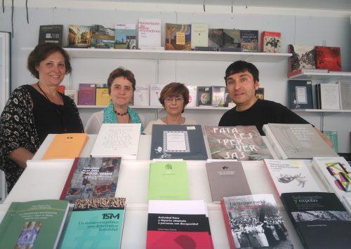 Caseta del Campus de la Universidad de Zaragoza en la Feria del Libro de Huesca 2017