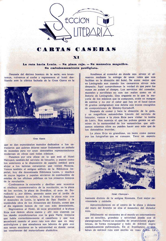 Cartas Caseras XI