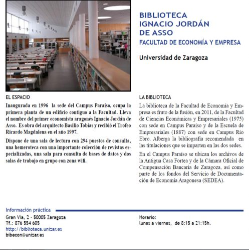"""Bibliotecas con encanto: Guía de espacios singulares de Zaragoza"""