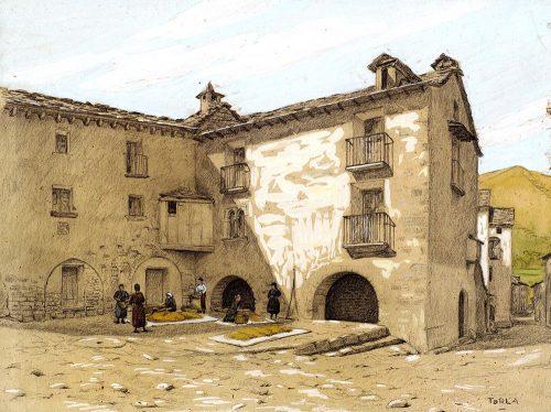 """Los """"Apuntes de Aragón"""" de Josep Rocarol: un testimonio singular. Exposición Biblioteca Universidad de Zaragoza: Noviembre 2017 Marzo 2018"""
