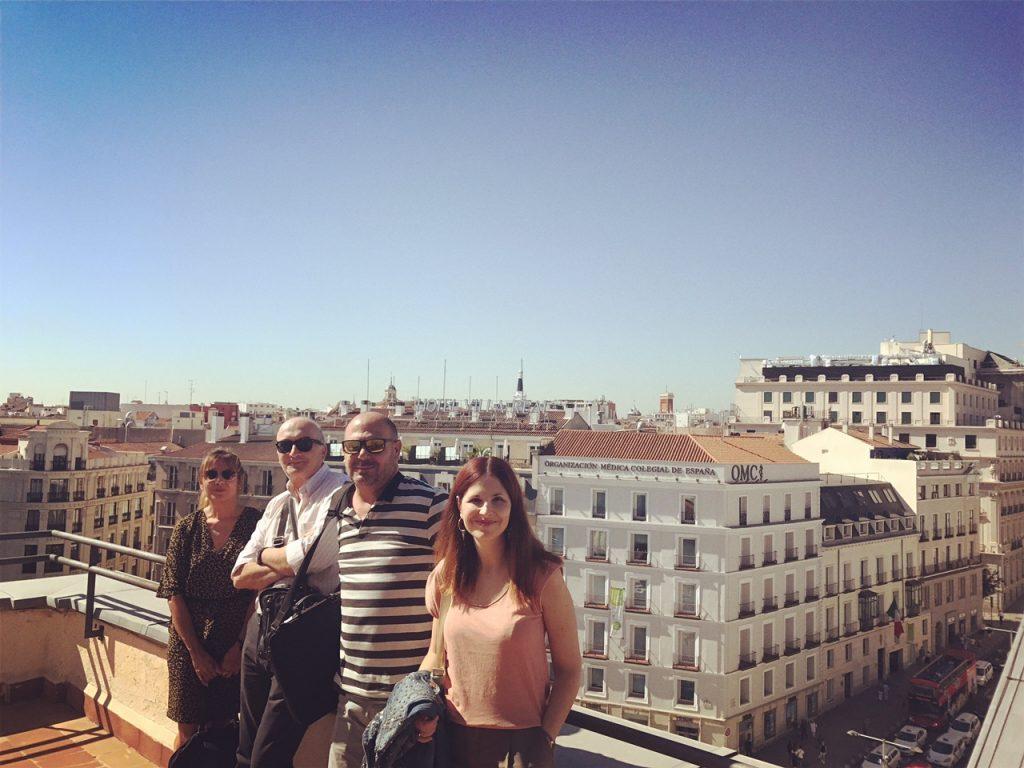 REUNIÓN UNICI2 EN MADRID. 5 DE OCTUBRE DE 2017. Nuestra compañera Laura Bordonaba a la derecha. Consuelo Marco también asistió pero no pudo aparecer en la foto.